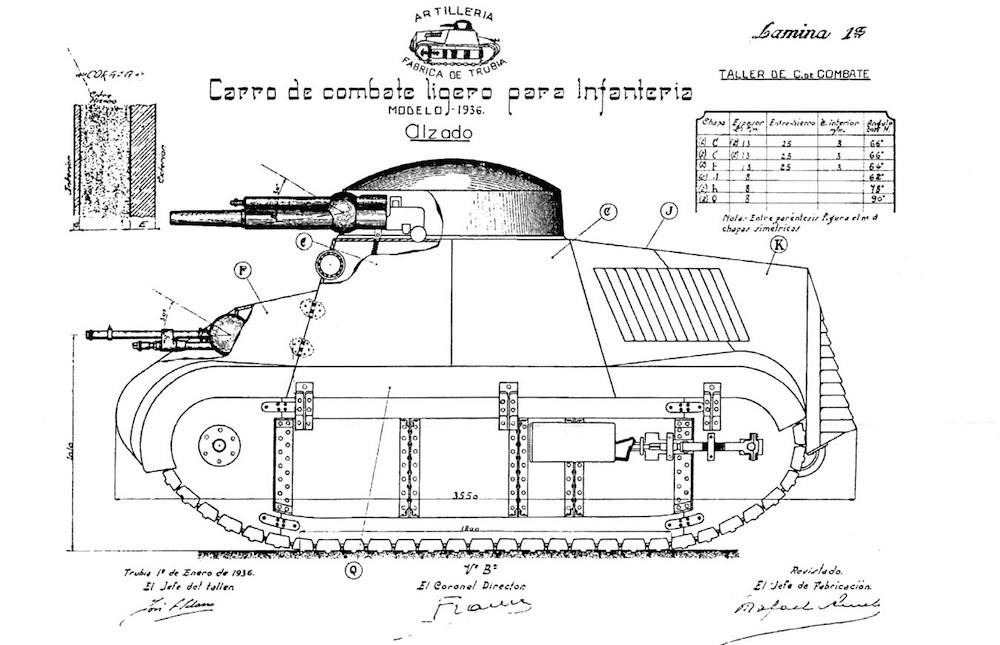 Char Trubia Naval - Plans